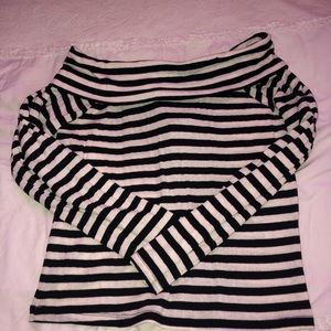 NWT Striped Off-the-Shoulder Top